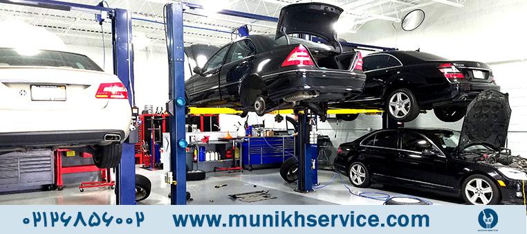 نشانه خرابی موتور و نیاز به تعمیر بنز تعمیرگاه مونیخ سرویس
